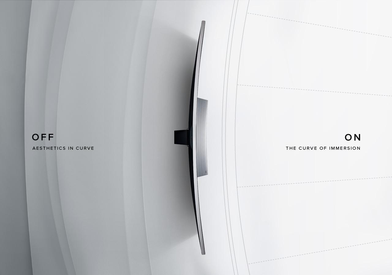 Samsung Curved Uhd Tv Design Story # Porte Television Design